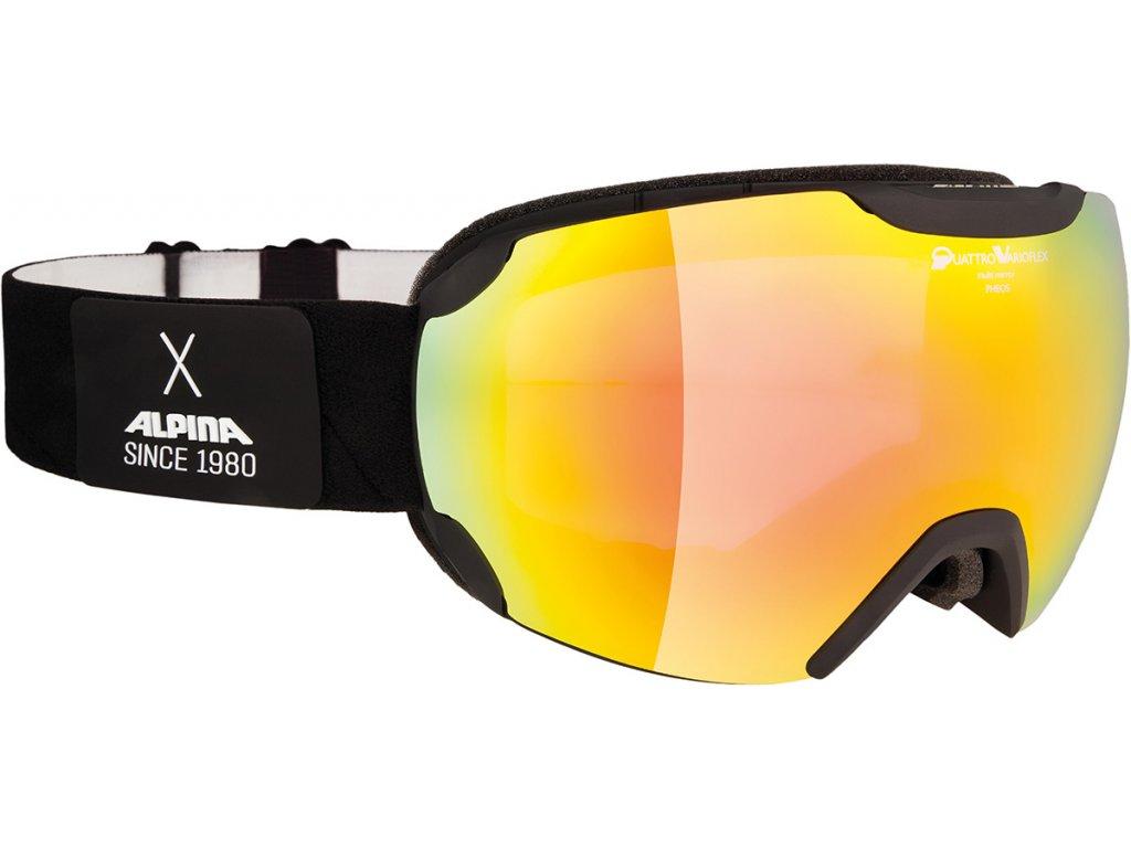 Lyžařské brýle Alpina Pheos QVM - black matt