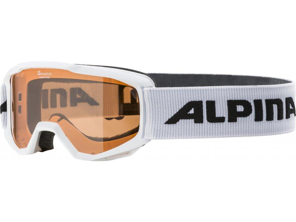 Lyžařské brýle Alpina Piney SH - white