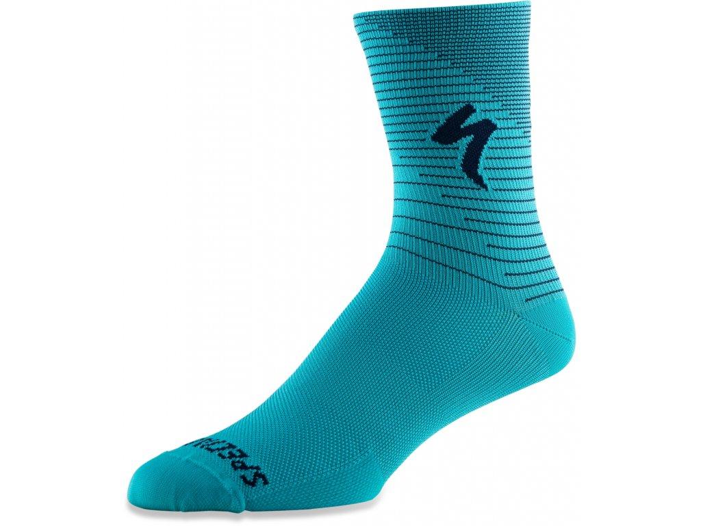 Specialized Soft Air Road Tall Sock - Aqua / Cast Blue Arrow