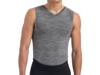Specialized Men's Seamless Sleeveless Base Layer Heather Grey (Velikost S)