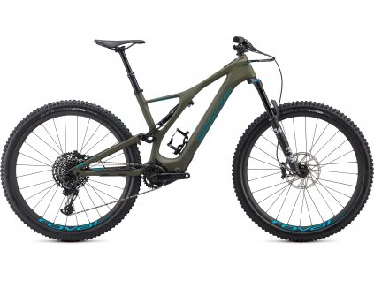 Specialized TURBO LEVO SL EXPERT CARBON Oak Green / Aqua (Velikost rámu S)