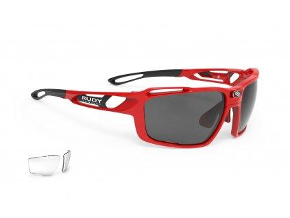 Sportovní sluneční brýle SINTRYX - Fire Red Gloss/RP Optics Smoke Black + Transparent