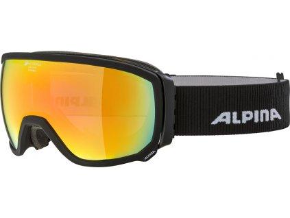 Lyžařské brýle Alpina Scarabeo QHM - black matt