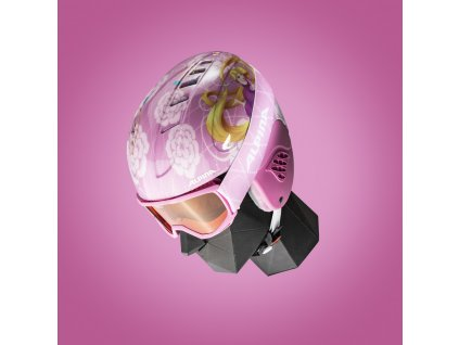 Dětská lyžařská helma a brýle (set) Alpina Carat Disney - Rapunze