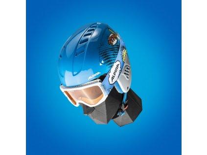 Dětská lyžařská helma a brýle (set) Alpina Carat Disney - Donald Duck