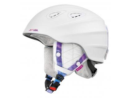 Lyžařská helma Alpina Grap 2.0 LE - white/perwinkle matt