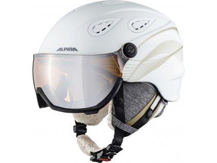 Lyžařská helma Alpina Grap Visor 2.0 HM - white/prosecco matt