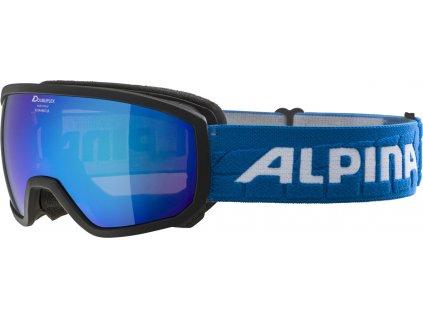 Juniorské lyžařské brýleAlpina Scarabeo JR HM - black/lightblue
