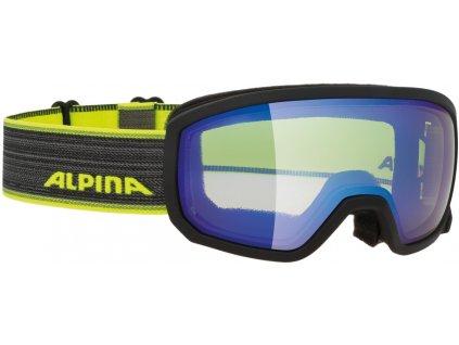 Juniorské lyžařské brýle Alpina Scarabeo JR VM - black/neon
