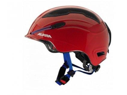 Lyžařská helma Alpina Snow Tour - red/blue