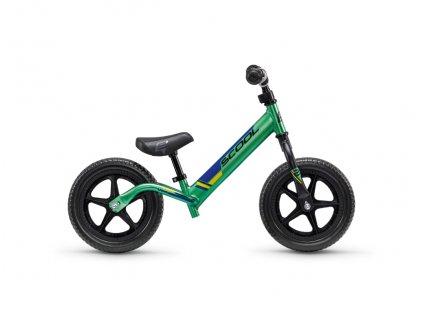 Dětské odrážedlo S'COOL pedeX race light - neonově zeleno/černá
