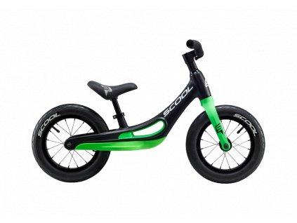 Dětské odrážedlo S'COOL pedeX - magnesium černo/zelená