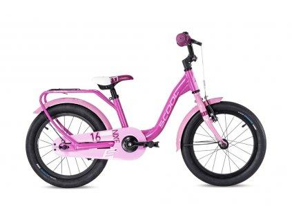"""Dětské kolo S'COOL niXe alloy 16"""" -růžová/bleděrůžová"""