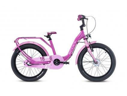 """Dětské kolo S'COOL niXe 18"""" - růžová/slabě růžová (od 114 cm)"""