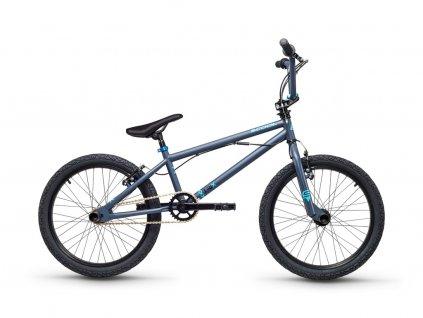 Dětské kolo S'COOL XtriX 20 - šedá/matně modrá
