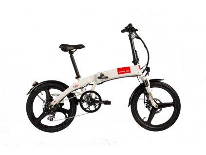 Skládací elektrokolo F50e S-Bikes - bílá