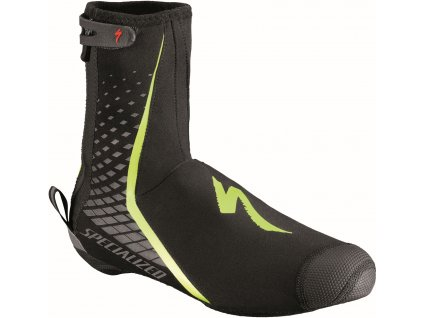 Specialized Deflect Pro Shoe Cover Black/Neon Yellow (Velikost S)