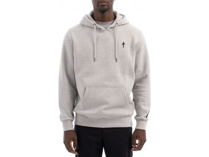 Specialized Men's S-Logo Pull Over Hoodie Heather Grey (Velikost S)
