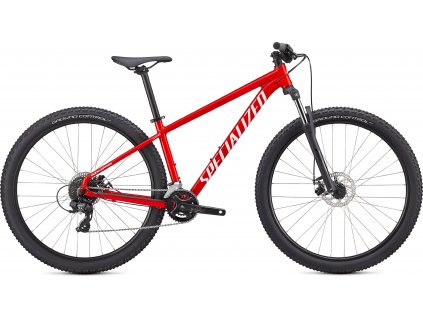 Specialized ROCKHOPPER 27.5 GLOSS FLO RED / WHITE (Velikost rámu XS)