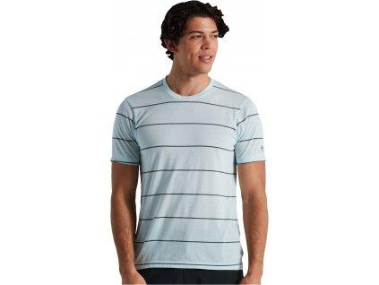Specialized Men's Drirelease® Stripe Tech Tee - Ice Blue