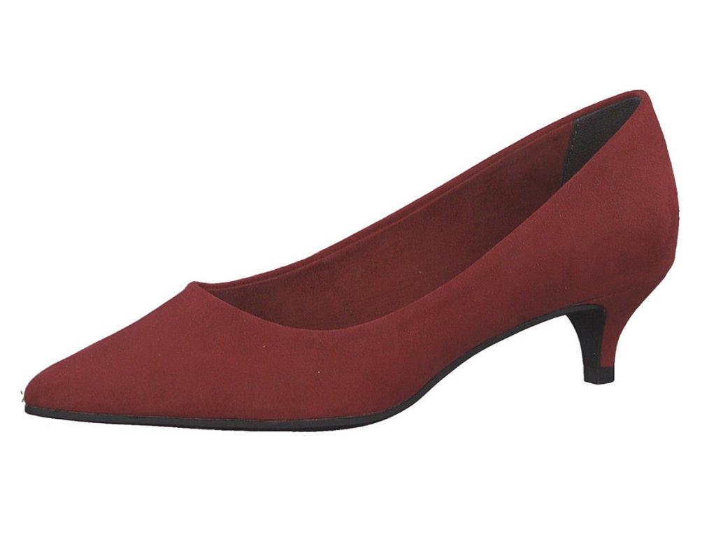 Tamaris Červené lodičky na podpatku 4,5cm