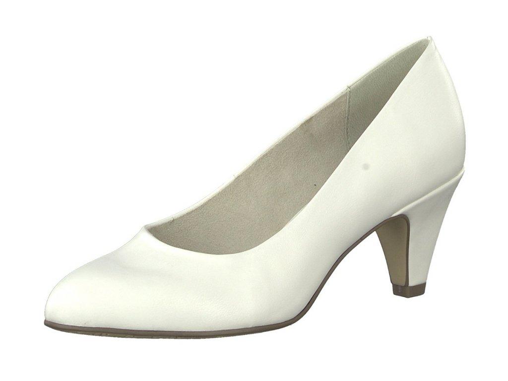 Tamaris Bílé lodičky na podpatku 6,5 cm