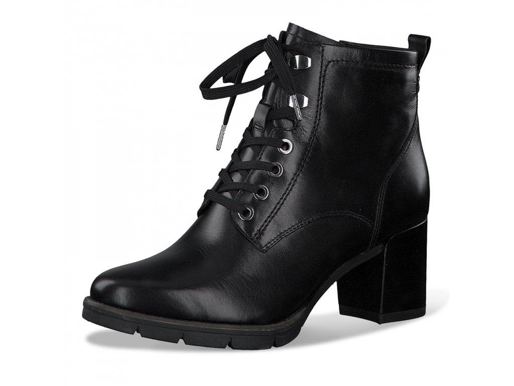 Tamaris Modní šněrovací kotníkové boty na podpatku 6,5 cm