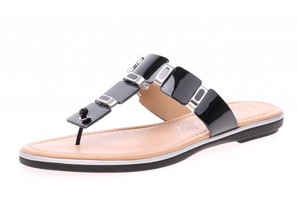 Marco Tozzi Černé pantofle