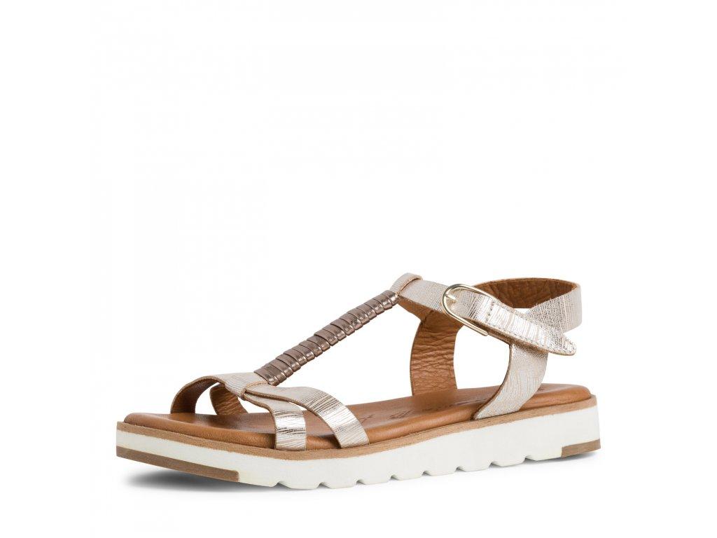 Marco Tozzi Růžové metalické sandály na platformě 3 cm