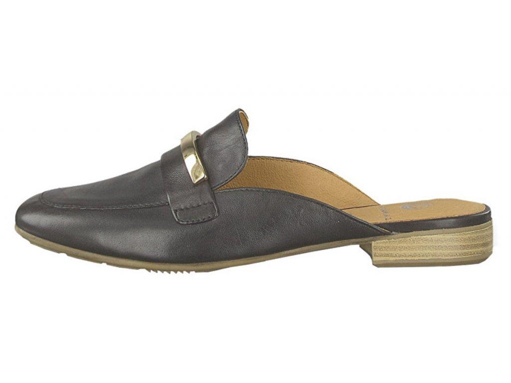 Jana Černé pantofle zdobené sponou