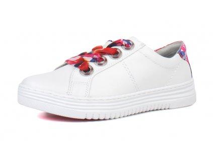 Jana Bílé tenisky zdobené barevnou tkaničkou