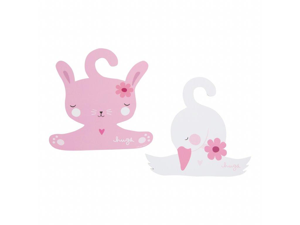 CHRS003 1 HR coat hanger rabbit and swan kopie