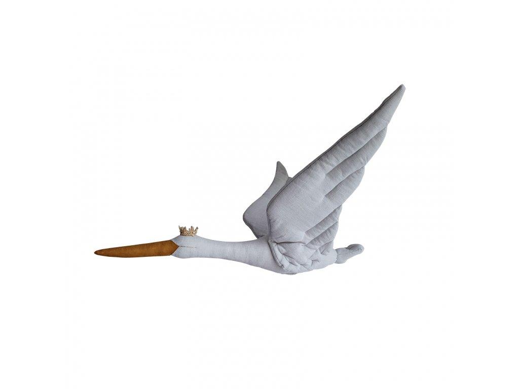 Stork linen pigeon