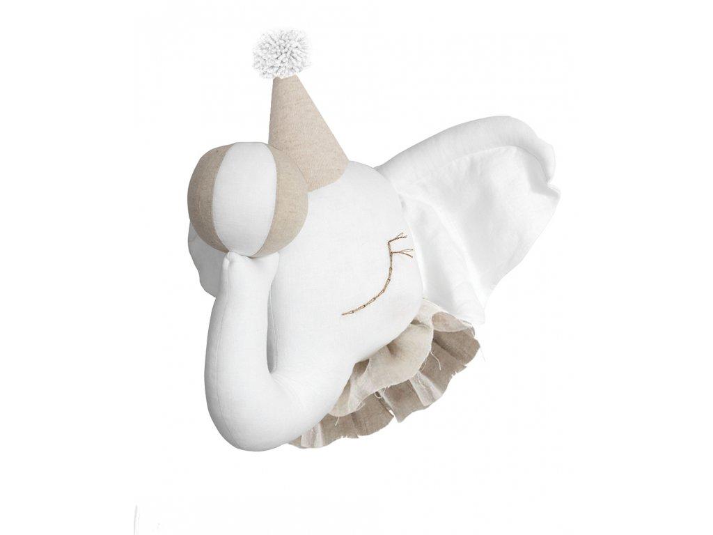 Elephant white beige circus