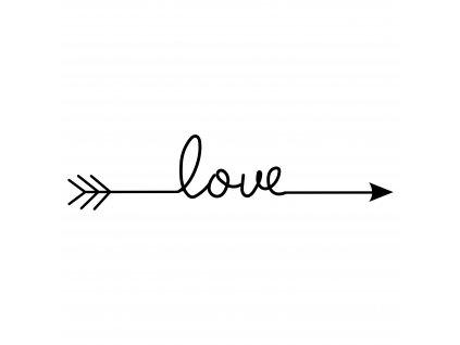 Samolepka šíp LOVE