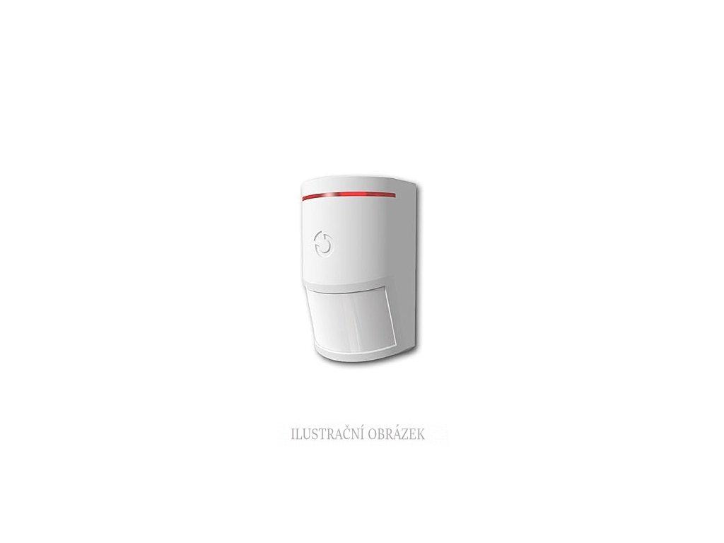 Bezdrátový PIR detektor pohybu s PET imunitou do cca 25 kg a dosahem 12m / 90°/ 7m / 90°