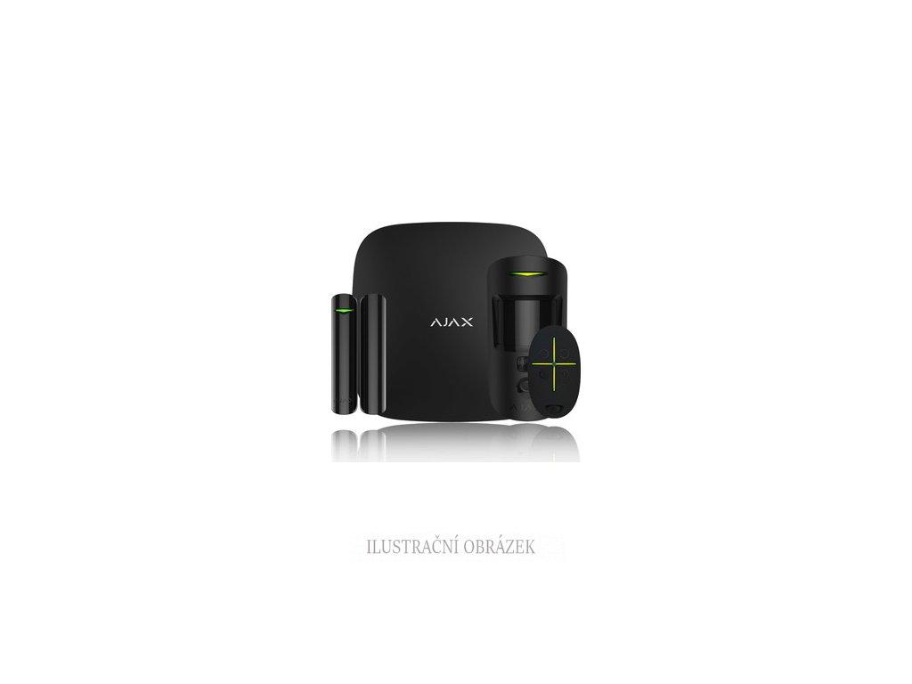 Ajax HUB+ StarterKit s ústřednou, PIR detektorem s kamerou, magnetem, klíčenkou a 12 V napájením