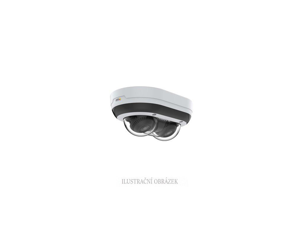 Multisenzorová IP dome kamera Axis P3715-PLVE s 2 x 2 MPx, MZVF 3 - 6 mm, IR přísvitem do 15 m a krytím IP66