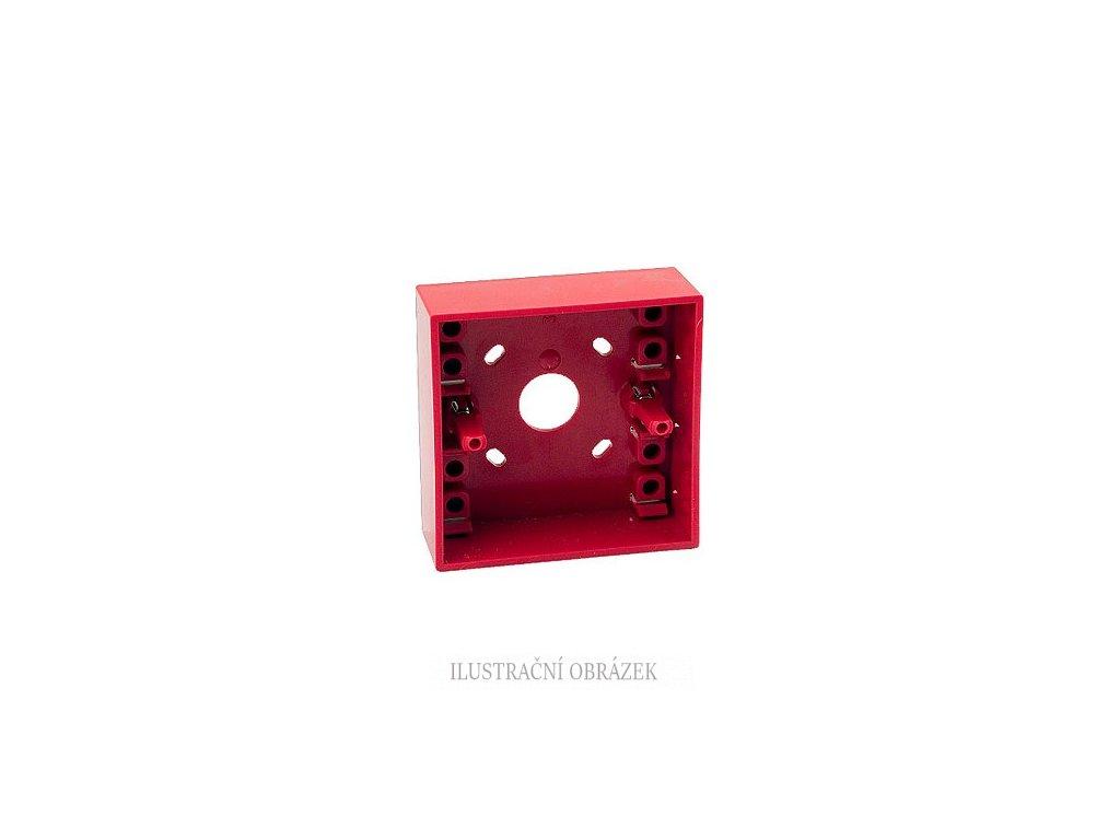 Červený zadní kryt pro povrchovou montáž tlačítek MCP