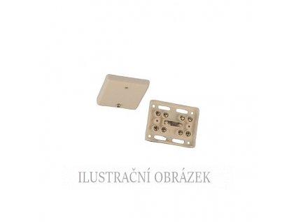 Plastová nízká propojovací krabice s 8 + 1 šroubovací svorkou