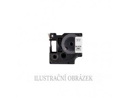 Kazeta s polyesterovou páskou, černým potiskem, délkou pásky 5,5 m a šířkou 12 mm