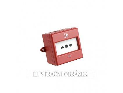 Červené venkovní požární tlačítko