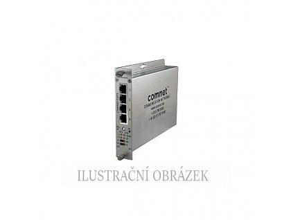 Transciever pro přenos IP kamer (TCP / IP) po UTP kabelu až na 900 m se 4-mi porty