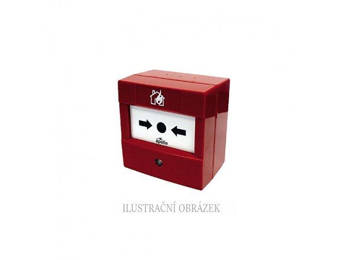 Červený inteligentní tlačítkový hlásič XP95