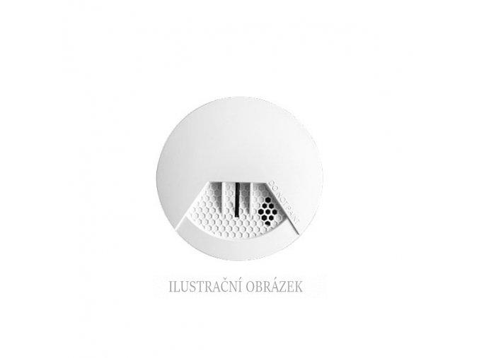 Bezdrátový optický detektor kouře s vestavěnou akustickou signalizací