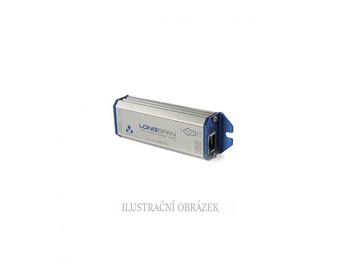 Extender LAN 10 / 100 Mbps + PoE s max. 1050 m, napájením PoE nebo externím