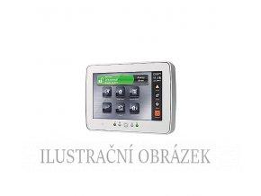 Bílá dotyková klávesnice pro ústředny DSC Power Neo se čtečkou přívěšků