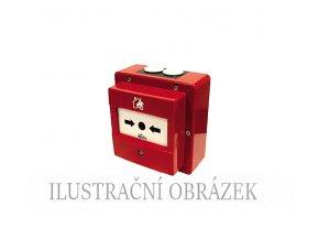 Discovery červený tlačítkový hlásič s izolátorem včetně zadního krytu a krytím IP-67