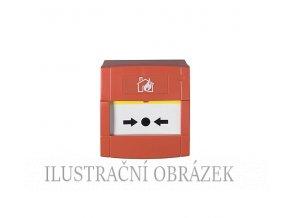 """Konvenční tlačítkový hlásič bez LED, se zadním krytem """"SR"""""""