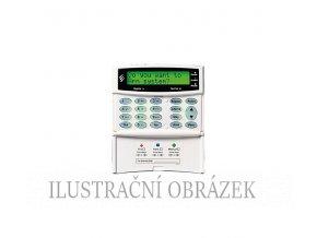 Klávesnice Premier LCD-P se čtečkou, menším displejem, dvěmi klávesnicovými zónami a PGM